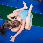 Competitive mixed wrestling between Lilith and David