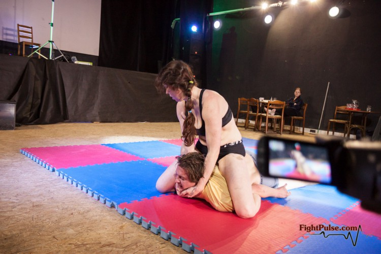 pinned down and submitted