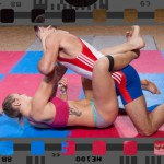 competitive mixed wrestling video with Diana and Steve