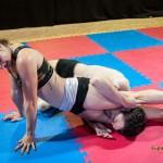 Mia's first mixed wrestling match