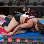 competitive smother wrestling