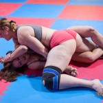 Laila vs Anika - competitive female wrestling