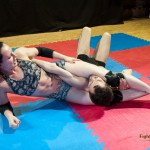 Karina Gotika's competitive mixed wrestling match against Frank