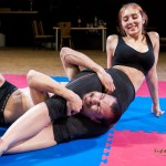 Akela dominant in her first onslaught-style mixed wrestling match