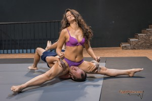 Lia Labowe mixed wrestling